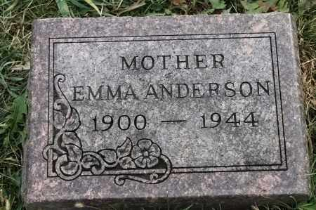 ANDERSON, EMMA - Lincoln County, South Dakota   EMMA ANDERSON - South Dakota Gravestone Photos