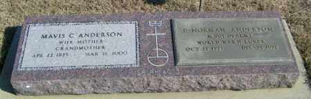 ANDERSON, E NORMAN - Lincoln County, South Dakota | E NORMAN ANDERSON - South Dakota Gravestone Photos