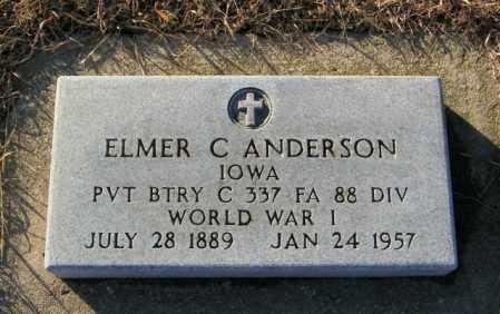 ANDERSON, ELMER C - Lincoln County, South Dakota | ELMER C ANDERSON - South Dakota Gravestone Photos
