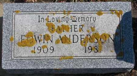 ANDERSON, EDWIN - Lincoln County, South Dakota   EDWIN ANDERSON - South Dakota Gravestone Photos