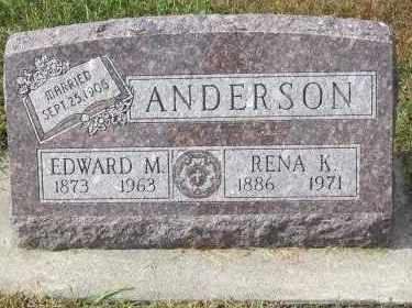 ANDERSON, EDWARD M. - Lincoln County, South Dakota | EDWARD M. ANDERSON - South Dakota Gravestone Photos