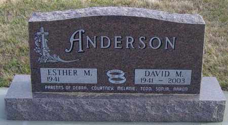 ANDERSON, ESTHER M - Lincoln County, South Dakota   ESTHER M ANDERSON - South Dakota Gravestone Photos