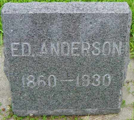 ANDERSON, ED - Lincoln County, South Dakota | ED ANDERSON - South Dakota Gravestone Photos