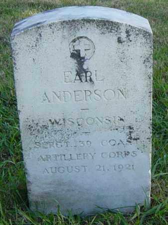 ANDERSON, EARL - Lincoln County, South Dakota | EARL ANDERSON - South Dakota Gravestone Photos