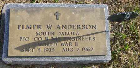 ANDERSON, ELMER W - Lincoln County, South Dakota | ELMER W ANDERSON - South Dakota Gravestone Photos