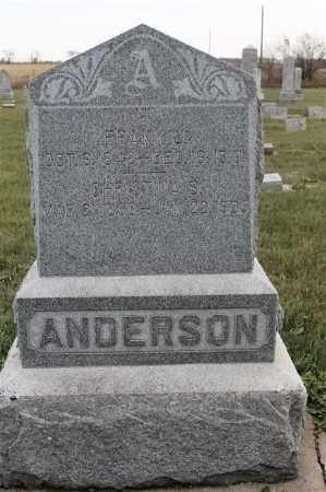 ANDERSON, FRANK J - Lincoln County, South Dakota | FRANK J ANDERSON - South Dakota Gravestone Photos