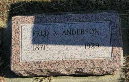 ANDERSON, FRED A - Lincoln County, South Dakota | FRED A ANDERSON - South Dakota Gravestone Photos