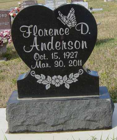 ANDERSON, FLORENCE D - Lincoln County, South Dakota | FLORENCE D ANDERSON - South Dakota Gravestone Photos