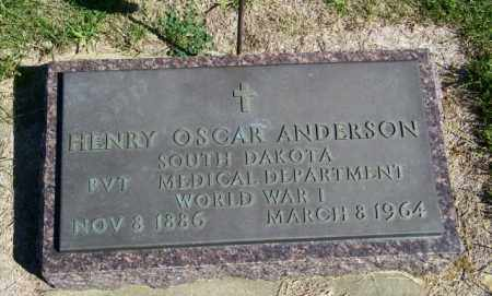 ANDERSON, HENRY OSCAR - Lincoln County, South Dakota | HENRY OSCAR ANDERSON - South Dakota Gravestone Photos