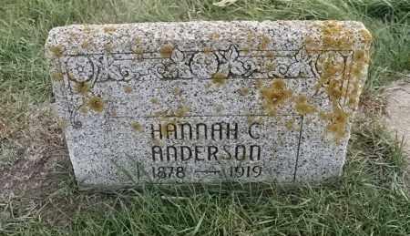 ANDERSON, HANNAH C - Lincoln County, South Dakota | HANNAH C ANDERSON - South Dakota Gravestone Photos