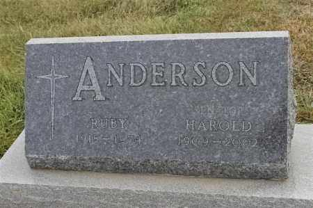 ANDERSON, HAROLD - Lincoln County, South Dakota | HAROLD ANDERSON - South Dakota Gravestone Photos