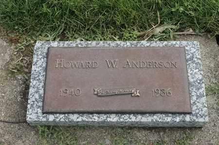 ANDERSON, HOWARD W - Lincoln County, South Dakota   HOWARD W ANDERSON - South Dakota Gravestone Photos