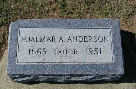 ANDERSON, HJALMAR A - Lincoln County, South Dakota   HJALMAR A ANDERSON - South Dakota Gravestone Photos