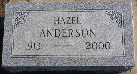 ANDERSON, HAZEL - Lincoln County, South Dakota | HAZEL ANDERSON - South Dakota Gravestone Photos