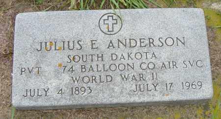 ANDERSON, JULIUS E - Lincoln County, South Dakota | JULIUS E ANDERSON - South Dakota Gravestone Photos