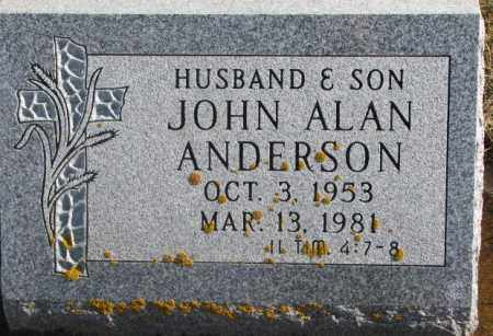 ANDERSON, JOHN ALAN - Lincoln County, South Dakota | JOHN ALAN ANDERSON - South Dakota Gravestone Photos