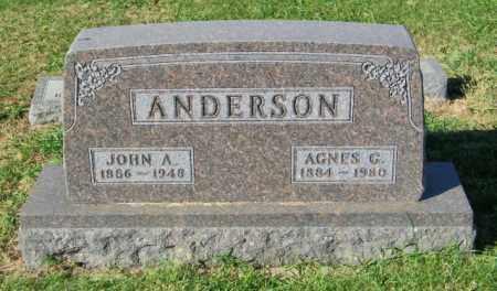 ANDERSON, AGNES G. - Lincoln County, South Dakota | AGNES G. ANDERSON - South Dakota Gravestone Photos