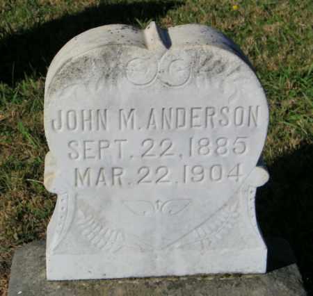 ANDERSON, JOHN M. - Lincoln County, South Dakota   JOHN M. ANDERSON - South Dakota Gravestone Photos