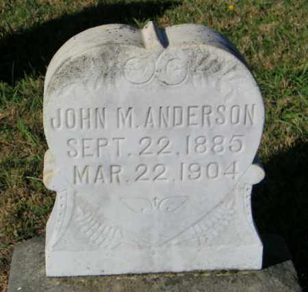 ANDERSON, JOHN M. - Lincoln County, South Dakota | JOHN M. ANDERSON - South Dakota Gravestone Photos