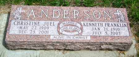 ANDERSON, KENNETH FRANKLIN - Lincoln County, South Dakota | KENNETH FRANKLIN ANDERSON - South Dakota Gravestone Photos