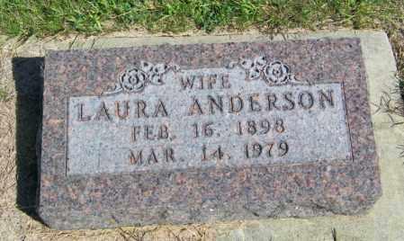 ANDERSON, LAURA - Lincoln County, South Dakota | LAURA ANDERSON - South Dakota Gravestone Photos