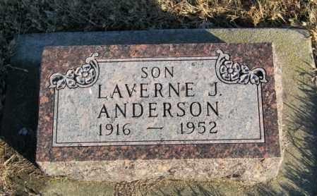 ANDERSON, LAVERNE J - Lincoln County, South Dakota | LAVERNE J ANDERSON - South Dakota Gravestone Photos