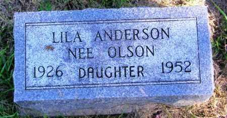 ANDERSON, LILA - Lincoln County, South Dakota | LILA ANDERSON - South Dakota Gravestone Photos