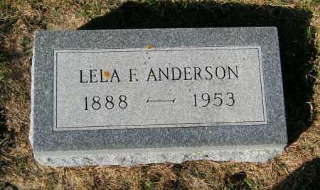 ANDERSON, LELA F - Lincoln County, South Dakota | LELA F ANDERSON - South Dakota Gravestone Photos