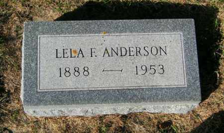 ANDERSON, LELA F - Lincoln County, South Dakota | LELA F ANDERSON - South Dakota Gravestone Photos