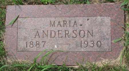 ANDERSON, MARIA - Lincoln County, South Dakota   MARIA ANDERSON - South Dakota Gravestone Photos