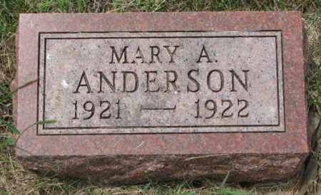 ANDERSON, MARY A. - Lincoln County, South Dakota   MARY A. ANDERSON - South Dakota Gravestone Photos