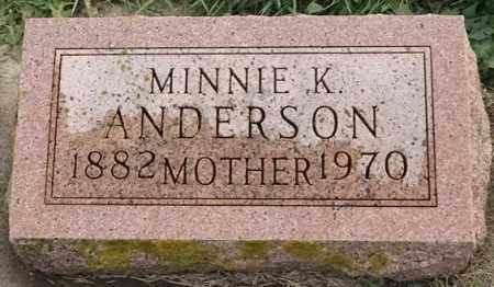 ANDERSON, MINNIE K - Lincoln County, South Dakota   MINNIE K ANDERSON - South Dakota Gravestone Photos