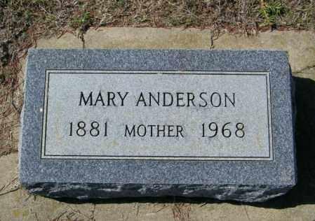 ANDERSON, MARY - Lincoln County, South Dakota | MARY ANDERSON - South Dakota Gravestone Photos