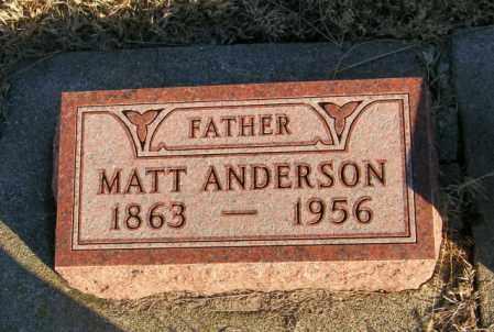 ANDERSON, MATT - Lincoln County, South Dakota | MATT ANDERSON - South Dakota Gravestone Photos