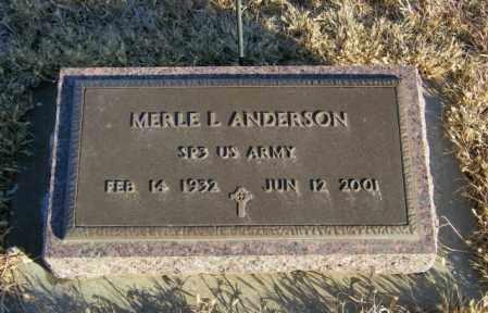 ANDERSON, MERLE L - Lincoln County, South Dakota | MERLE L ANDERSON - South Dakota Gravestone Photos