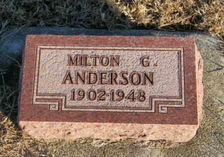 ANDERSON, MILTON G - Lincoln County, South Dakota | MILTON G ANDERSON - South Dakota Gravestone Photos
