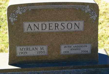 KNADLE ANDERSON, RUTH - Lincoln County, South Dakota | RUTH KNADLE ANDERSON - South Dakota Gravestone Photos