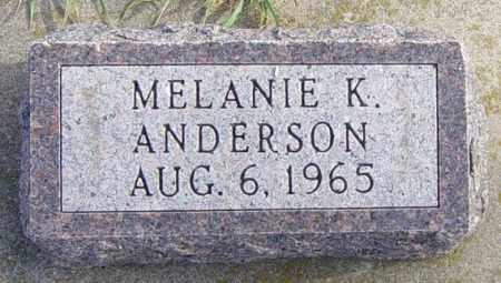 ANDERSON, MELANIE K - Lincoln County, South Dakota | MELANIE K ANDERSON - South Dakota Gravestone Photos