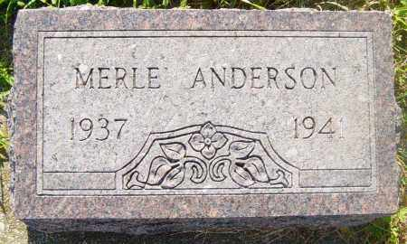 ANDERSON, MERLE - Lincoln County, South Dakota   MERLE ANDERSON - South Dakota Gravestone Photos