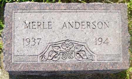 ANDERSON, MERLE - Lincoln County, South Dakota | MERLE ANDERSON - South Dakota Gravestone Photos