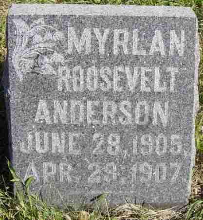 ANDERSON, MYRLAN ROOSEVELT - Lincoln County, South Dakota | MYRLAN ROOSEVELT ANDERSON - South Dakota Gravestone Photos