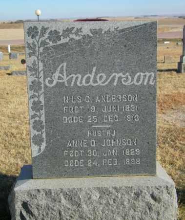 ANDERSON, NILS C - Lincoln County, South Dakota | NILS C ANDERSON - South Dakota Gravestone Photos