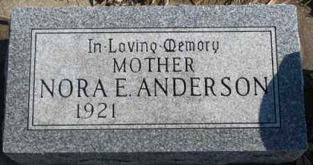 ANDERSON, NORA E. - Lincoln County, South Dakota | NORA E. ANDERSON - South Dakota Gravestone Photos