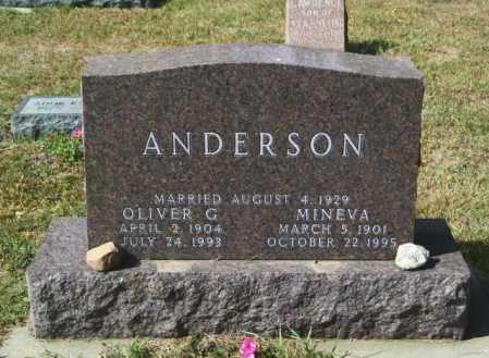 ANDERSON, MINEVA - Lincoln County, South Dakota | MINEVA ANDERSON - South Dakota Gravestone Photos