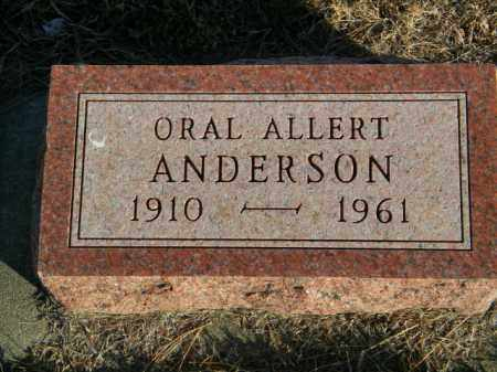 ANDERSON, ORAL ALBERT - Lincoln County, South Dakota   ORAL ALBERT ANDERSON - South Dakota Gravestone Photos