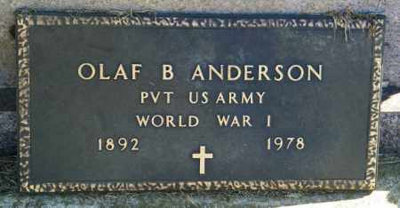 ANDERSON, OLAF B - Lincoln County, South Dakota   OLAF B ANDERSON - South Dakota Gravestone Photos