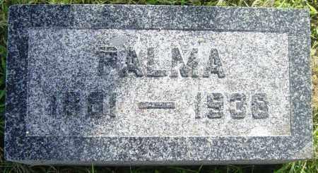 ANDERSON, PALMA - Lincoln County, South Dakota | PALMA ANDERSON - South Dakota Gravestone Photos