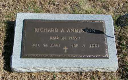 ANDERSON, RICHARD A - Lincoln County, South Dakota | RICHARD A ANDERSON - South Dakota Gravestone Photos