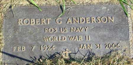ANDERSON, ROBERT G. - Lincoln County, South Dakota | ROBERT G. ANDERSON - South Dakota Gravestone Photos