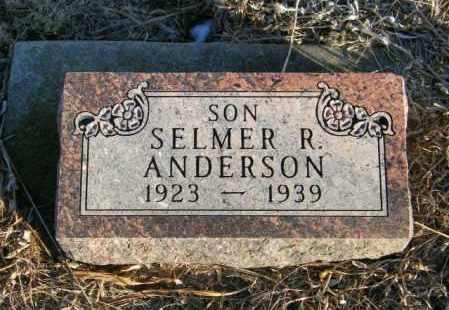 ANDERSON, SELMER R - Lincoln County, South Dakota | SELMER R ANDERSON - South Dakota Gravestone Photos
